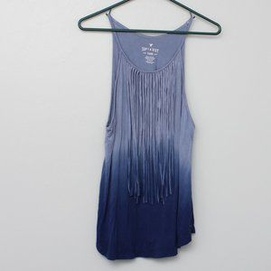 American Eagle soft and sexy fringe ombre tank